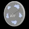 Glance Clock silver_09