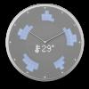 Glance Clock silver_10