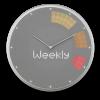 Glance Clock silver_14
