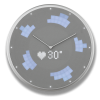 Glance Clock silver_16