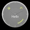 Glance Clock silver_17