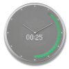 Glance Clock silver_18