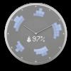 Glance Clock silver_20