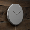 Glance Clock silver_32