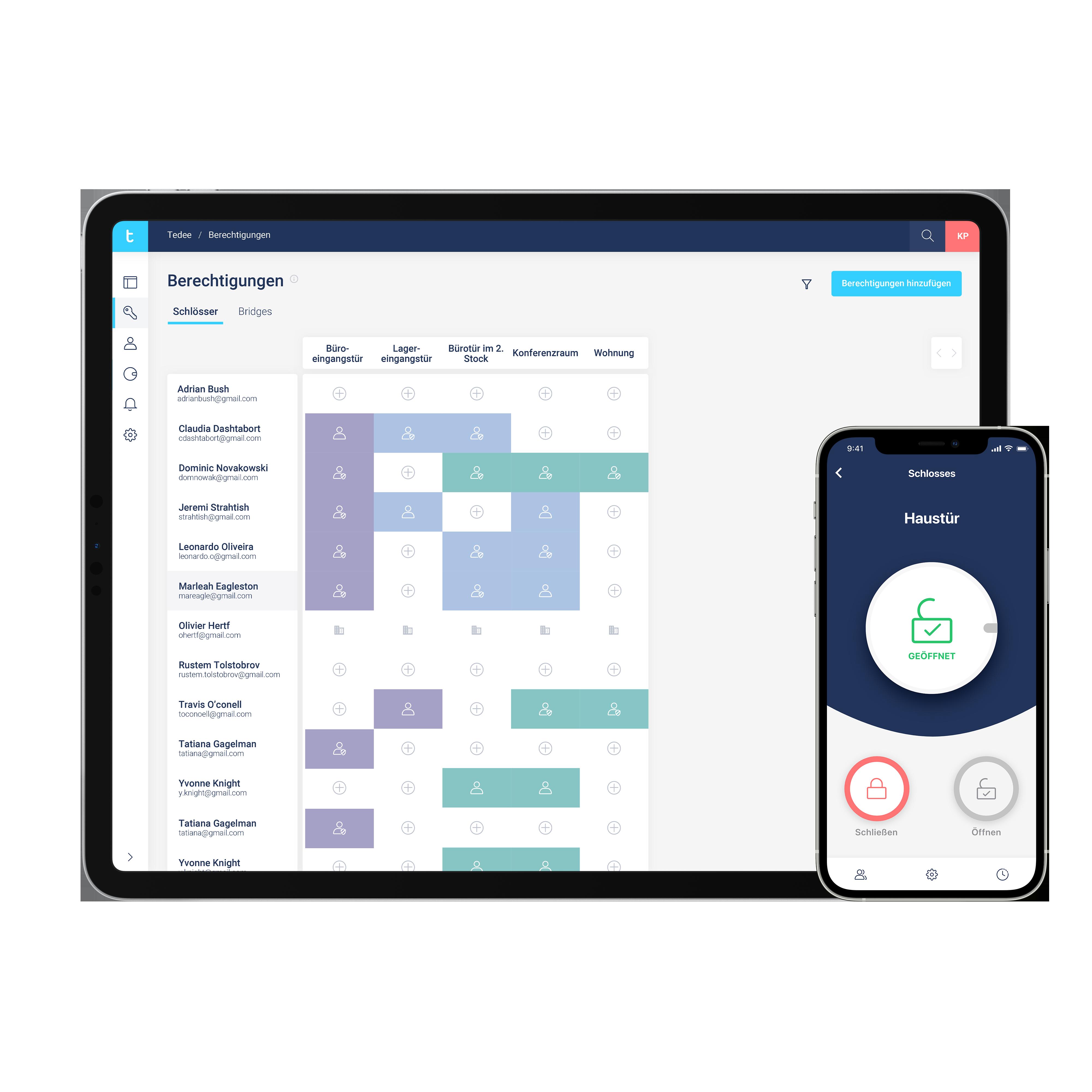 Business-Portal_Zutrittsberechtigungen