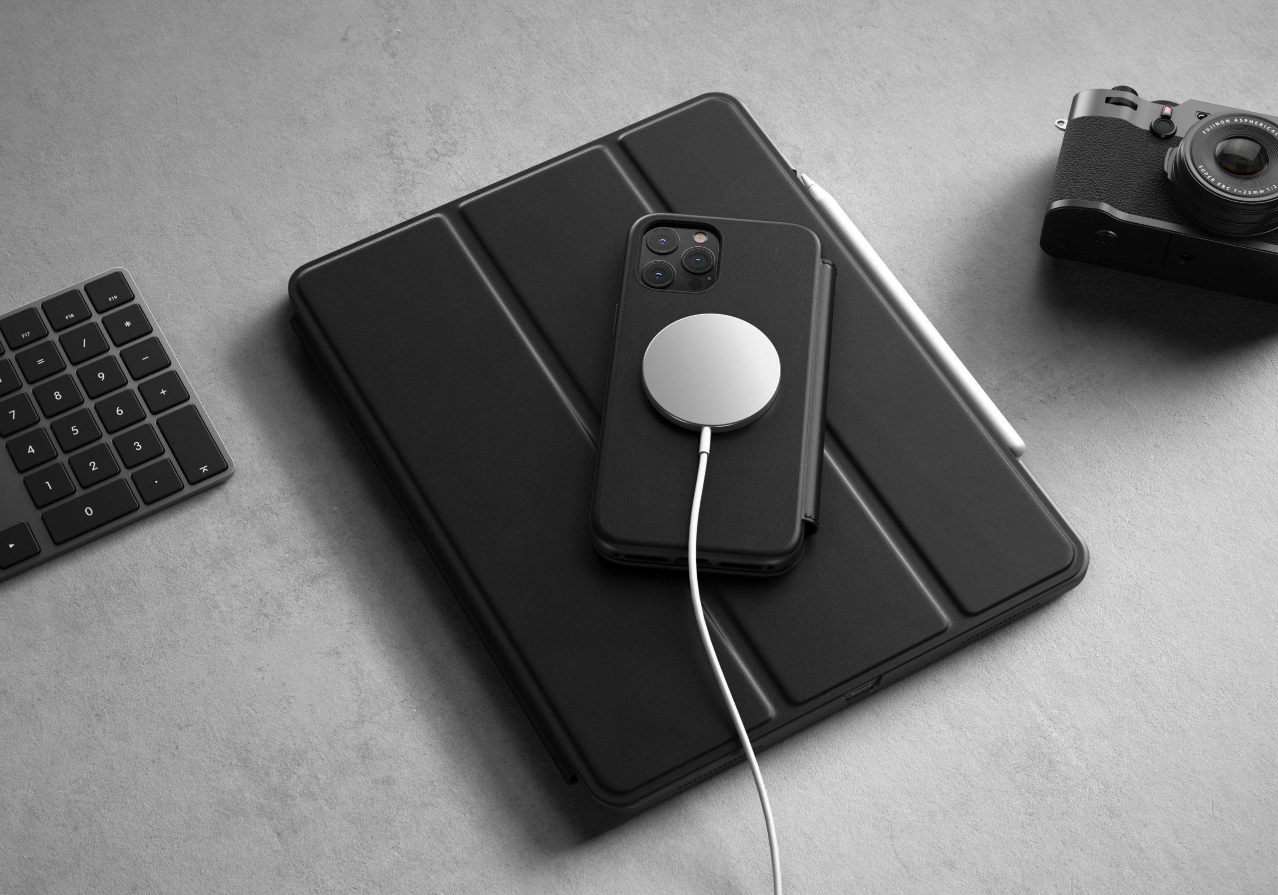 Nomad-Rugged-Folio-Case-MagSafe-Black-Leather-iPhone-12-Pro-Max